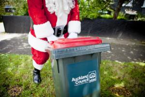 Santa being a tidy Kiwi